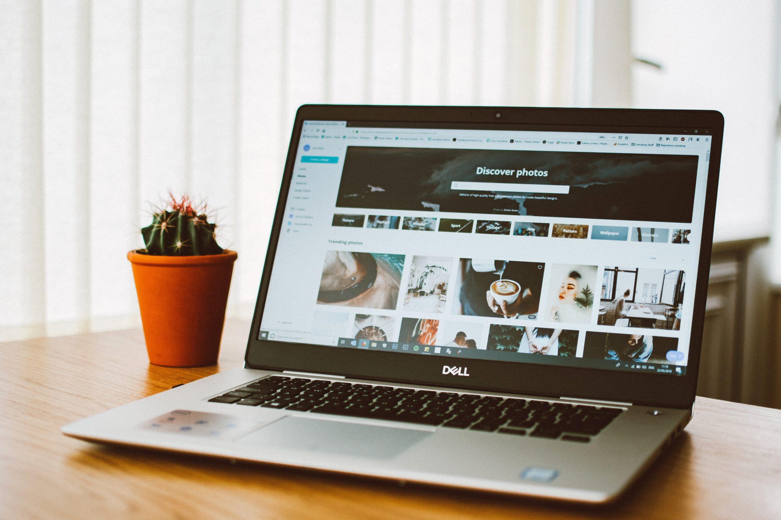 Blog sur ordinateur